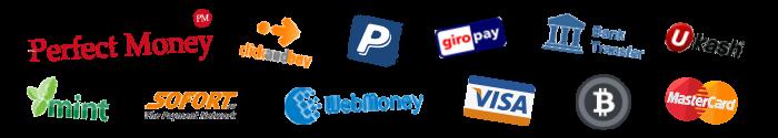 Fournisseurs de paiement pour notre service VPN